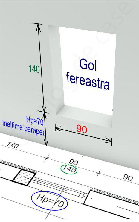 plan arhitectura fereastra