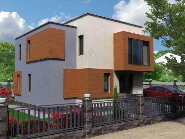 Vila helga catalog de case for Proiecte case cu mansarda 2017
