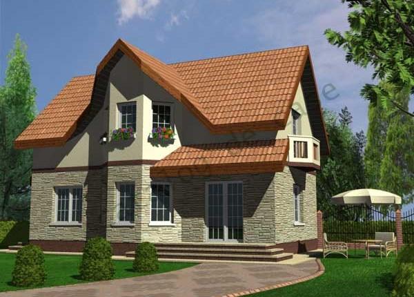 Vila Aston, proiect de casa cu mansarda