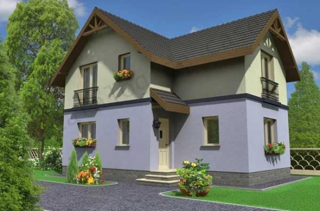 Opteaza pentru Eliza, casa mica cu mansarda (S=100mp)