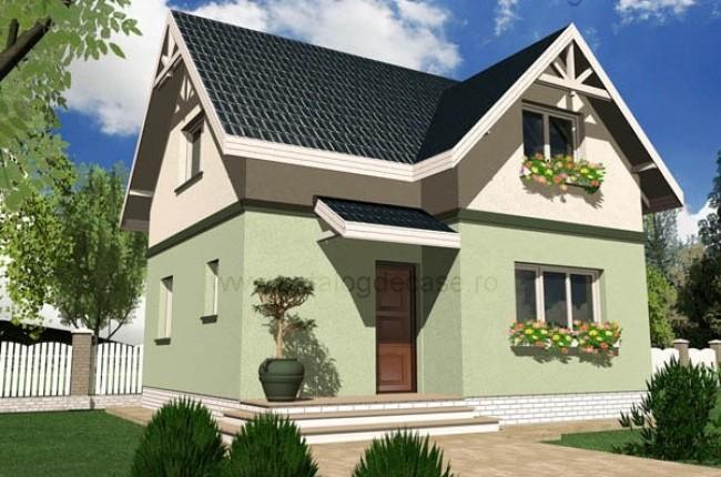 Vila Mini, proiect de casa cu mansarda